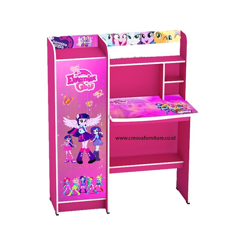 Creova Meja Belajar Anak Perempuan Pink